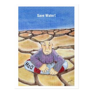 Save Water Postcard
