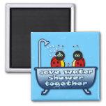 save water, shower together refrigerator magnet