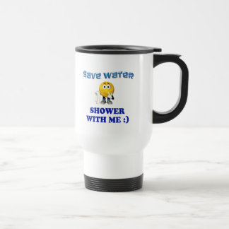 Save Water Shower With Me Stainless Steel Travel Mug