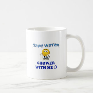 Save Water Shower With Me Classic White Coffee Mug
