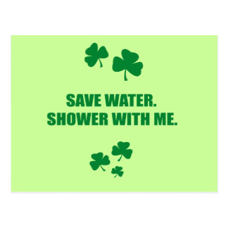 SAVE WATER. SHOWER WITH ME. POSTCARD