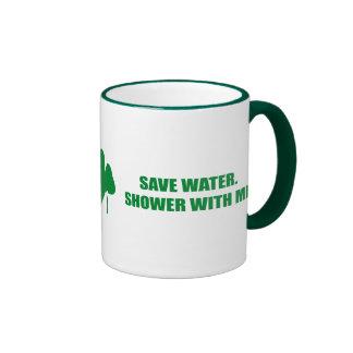 SAVE WATER. SHOWER WITH ME. RINGER MUG