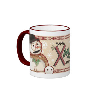 Save Xmas Mug, Dasher Ringer Mug