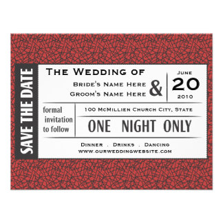 Save your Ticket Personalized Invites