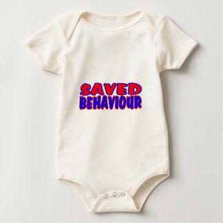Saved Behaviour Red-Blue Baby Bodysuit