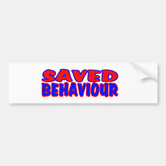 Saved Behaviour Red-Blue Bumper Sticker