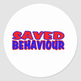 Saved Behaviour Red-Blue Classic Round Sticker