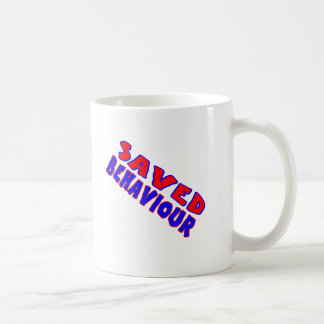 Saved Behaviour Red-Blue Diagonal Basic White Mug