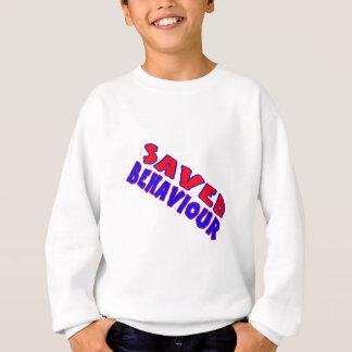 Saved Behaviour Red-Blue Diagonal Sweatshirt