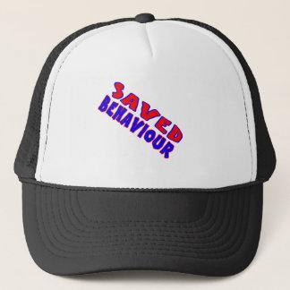 Saved Behaviour Red-Blue Diagonal Trucker Hat