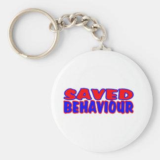 Saved Behaviour Red-Blue Key Ring