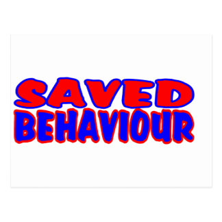 Saved Behaviour Red-Blue Postcard