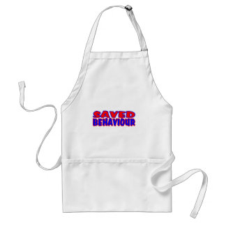 Saved Behaviour Red-Blue Standard Apron
