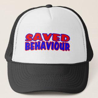Saved Behaviour Red-Blue Trucker Hat