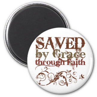 Saved by Grace 6 Cm Round Magnet