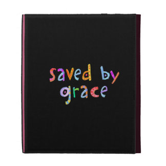 Saved By Grace Fun and Funky Christian iPad Folio Case
