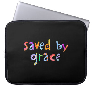 Saved By Grace Fun and Funky Christian Laptop Sleeve