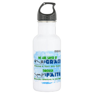 Saved By Grace Through Faith 532 Ml Water Bottle