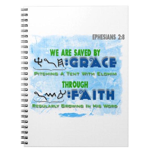 Saved By Grace Through Faith Notebooks