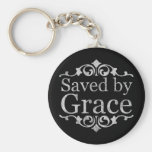 Saved By Grace Vintage Key Chain