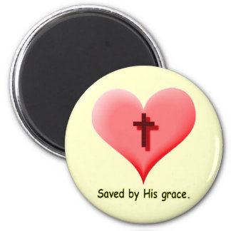 Saved by His grace.- Magnet