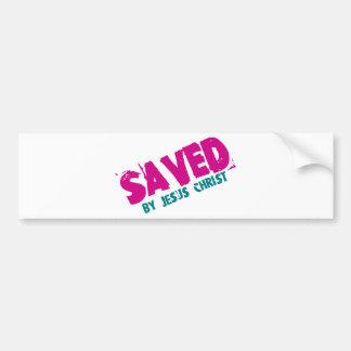 SAVED by Jesus Christ Bumper Sticker