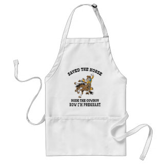 Saved The Horse Rode The Cowboy Pregnant Standard Apron
