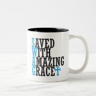 Saved With Amazing Grace SWAG Chrisitan Mug Cross