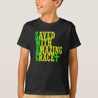 Saved With Amazing Grace SWAG Christian Kid's Tee