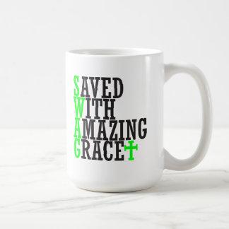 Saved With Amazing Grace SWAG Christian Mug