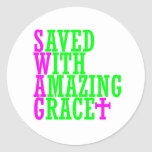 Saved With Amazing Grace SWAG Christian Stickers