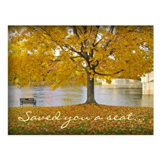 Saved you a seat... postcard