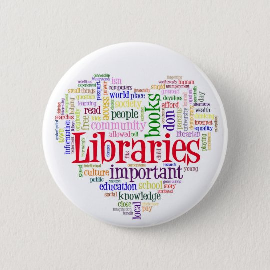 Savelibraries 6 Cm Round Badge