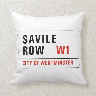 Savile Row, London Street Sign Throw Pillow