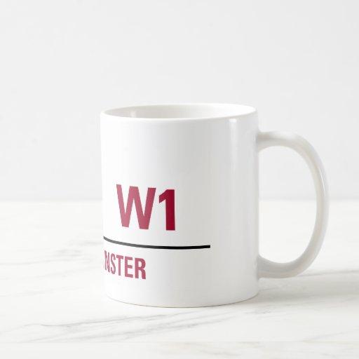 Savile Row Sign Basic White Mug