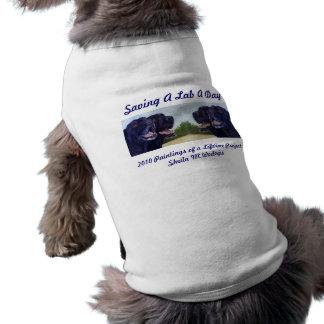 Saving A Lab A Day Sleeveless Dog Shirt