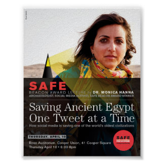 """""""Saving Ancient Egypt, One Tweet at a Time"""" poster"""