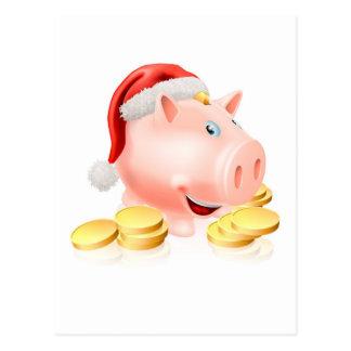 Saving for Christmas Concept Post Card