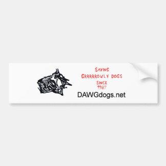 saving growly dogs bumper sticker