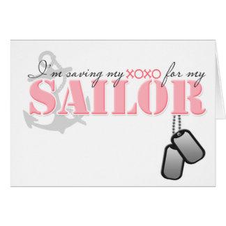 Saving my XOXO for my Sailor Greeting Card