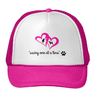 """""""Saving One At A Time"""" Hat (pink) Trucker Hat"""