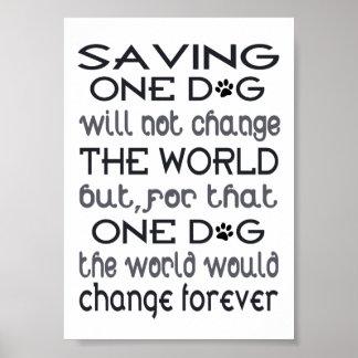Saving One Dog Poster