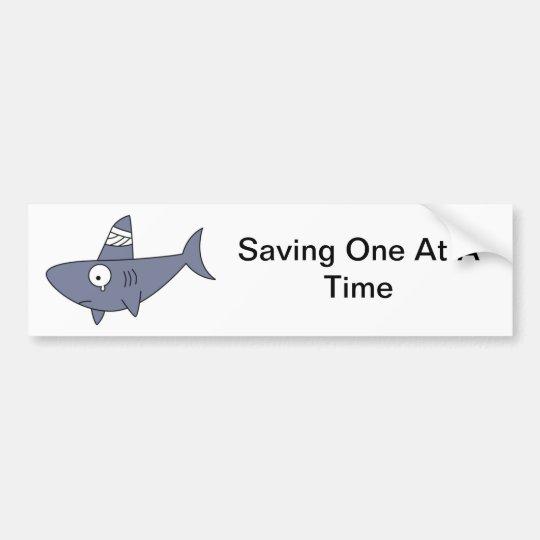 Saving One Shark Bumper Sticker