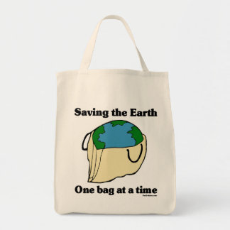 Saving the Earth Organic Tote Bag