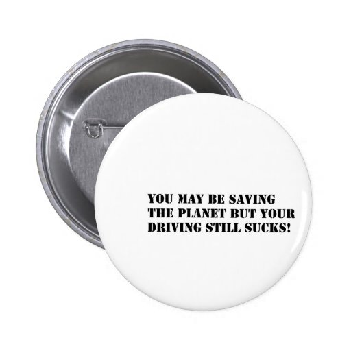 saving the planet black on white pinback buttons