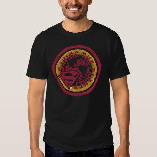 Saving the planet red circle t-shirts