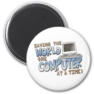 Saving theWorld 6 Cm Round Magnet