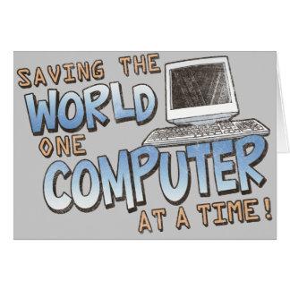Saving theWorld Greeting Card