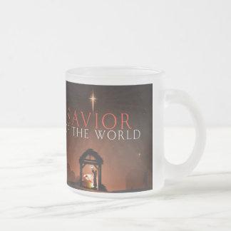 Savior of the world frosted glass mug