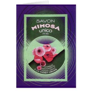 Savon Mimosa Unico 55 Greeting Card